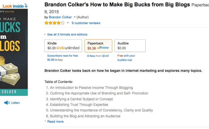 Brandon Colker Book